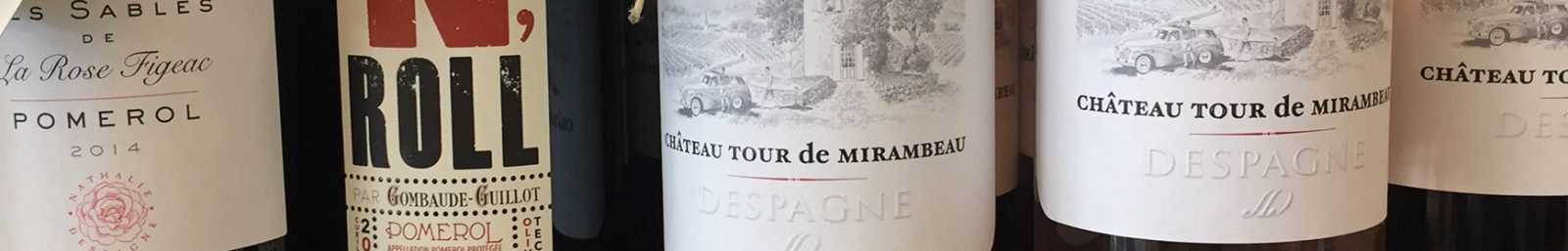 Weinflaschen Bordeaux