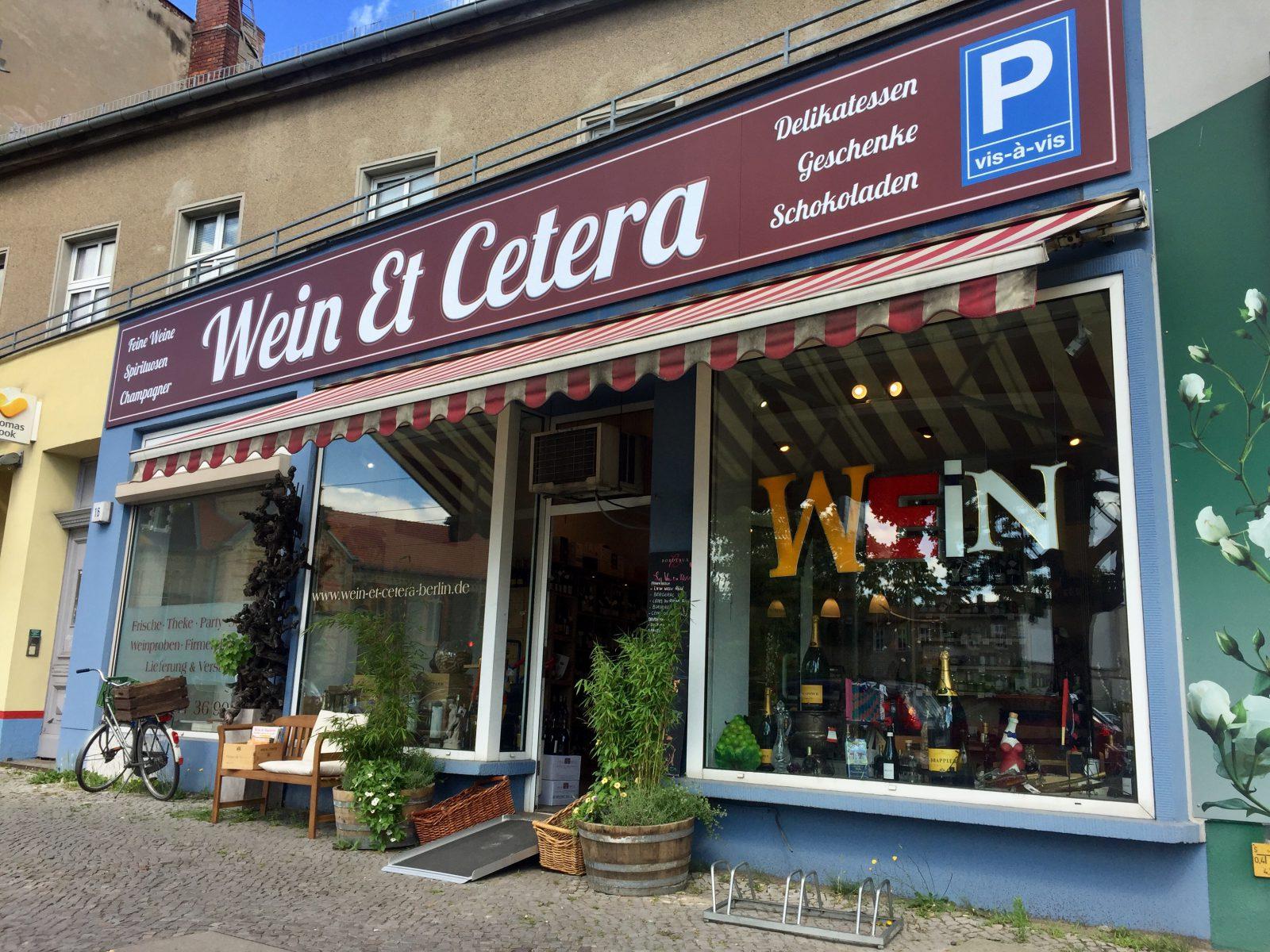 Ladenfront Wein Et Cetera