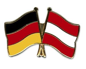 Anstecknadel Ösi und Deutschlandfahne